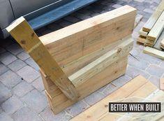 diy outdoor sofa, diy, outdoor furniture, woodworking projects #outdoorsofadiy