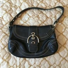 Black Coach Purse Great condition. Only worn a couple times. NO TRADES/PAYPAL. Coach Bags