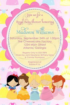 The ultimate collection of free db printables recipes craft ideas princess photo invitation or baby shower by graciegirldesigns77 1200 filmwisefo