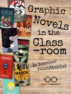 Graphic Novels in the Classroom: A Teacher Roundtable - Four teachers discuss how using graphic novels has enriched their instruction, strengthened student comprehension, and engaged their most reluctant readers. Reading Resources, Reading Strategies, Teaching Reading, Reading Comprehension, Teaching Ideas, Learning, Teaching Time, Reading Lessons, Teaching Materials