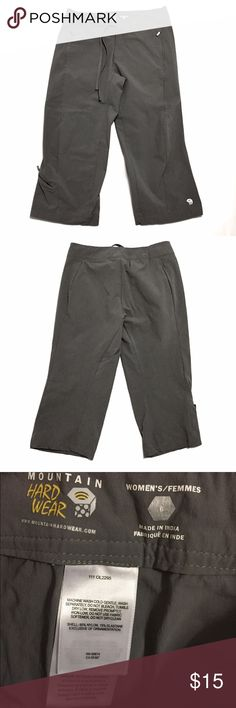 Mountain Hard Wear ⛰Capri Pants SZ 6 I bought these Mountain Hard Wear Capri Pants and never wore them. So they are brand new without tags. NWOT. Never been washed either. They are a size 6. Charcoal Gray in color. Versatile activewear pant for climbing, hiking, cross-training or hanging out. Lightweight. Mountain Hard Wear Pants Capris
