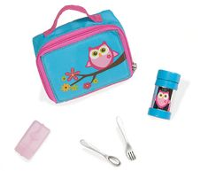 Miniature Owl Lunch Bag with Thermos, Utensils and Ice Pack Our Generation Doll Accessories, Our Generation Dolls, American Girl Doll Bed, American Girl Crafts, Girl Toys Age 5, Toys For Girls, Ag Dolls, Girl Dolls, Shopkins