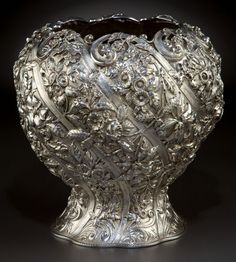 A KIRK SILVER VASE Samuel Kirk & Son Co., Baltimore, Maryland, circa 1903-1907