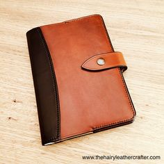 Leather Notebook Cover Curve handmade journal diary