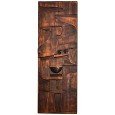 1960s Sculpted Wooden Panel by Nerone and Patuzzi | From a unique collection of antique and modern wall-mounted sculptures at http://www.1stdibs.com/furniture/wall-decorations/wall-mounted-sculptures/