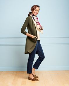The Modern Ankle jean. High waist. Slim through the thigh. Relaxed, tapered leg. The jean you need now. | Talbots Fall 2019.