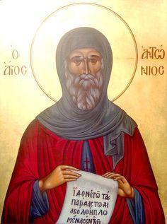 #saint, #saintanthony, #saintanthonythegreat, #bysantine, #iconography, #greekiconography, #evapolart, #handmade, #handpainted, #handcrafted