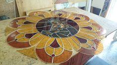 Vízkeleti Templom Ólomüveg Ablak Készítés - Műhelyfotók  