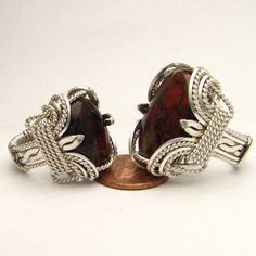 Handmade Wire Wrapped   Jasper  Sterling Silver Ring by JandSGems,