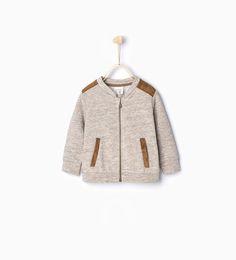 Sweatshirt with shoulder detail-Coats-Baby boy (3 months - 3 years)-KIDS | ZARA United States