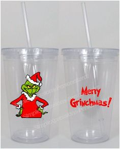 The Grinch Christmas Tumbler on Etsy, $12.00
