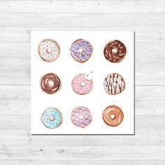 Donuts really make us go nuts and we LOVE this sugary-sweet print! Rows of different flavors make up this donut design.  OVERVIEW:   ☀ Donut Pattern