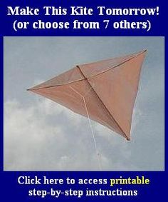 Make your own kite- scout activity? My Granddaddy made me kites from scratch, using tiny sticks and newspaper. I loved them and they flew. He said his Daddy showed him how when he was about 6, which would have been in 1899.