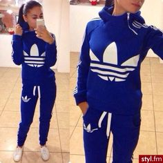 Royal blue Adidas warm-up