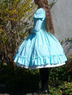 Aqua Polkadot Period Lolita Onepiece