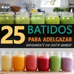 25 batidos para adelgazar rápidamente sin sentir hambre Many things have been said about the effectiveness of slimming shakes, although … Healthy Juices, Healthy Smoothies, Healthy Drinks, Best Smoothie Recipes, Detox Recipes, Yummy Recipes, Yummy Food, Detox Thermomix, Best Detox