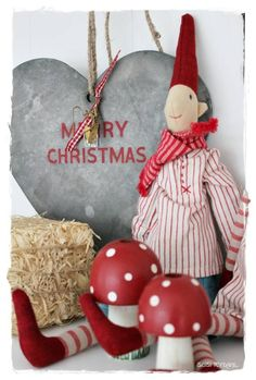 i love funny funky xmas decor Danish Christmas, Scandinavian Christmas, Winter Christmas, Christmas Holidays, Christmas Decorations, Christmas Ornaments, Holiday Decor, Vibeke Design, Creations