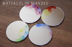 Watercolour mirrors - so pretty, and they could match any room.