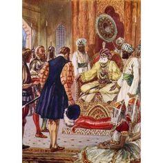 Vasco Da Gama Visiting The Rajah Of Cannanore India In 1498 Vasco Da Gama 1St Count Of Vidigueira C1460 Or 1469 To 1524 Portuguese Explorer From The Great Explorers Columbus And Vasco Da Gama Canvas A