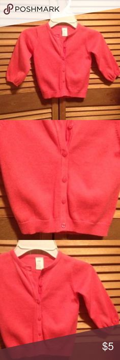 Coral Cardigan Coral color cardigan. 9-12 mos. 100% cotton H&M Kids Dresses