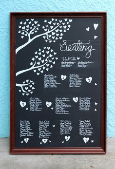 Mary and Stu's Wedding blackboard | Chalkd