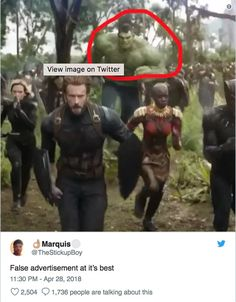 What if this isn't false advertisement but rather a still from Avengers What if time was rewound back before the fight in Wakanda and Bruce was able to get the Hulk to come out only after then? Marvel Funny, Marvel Memes, Marvel Dc Comics, Marvel Art, Marvel Universe, Infinity War Memes, Dc Memes, Funny Memes, Funny Tweets