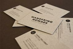 Wandering Nomads business cards