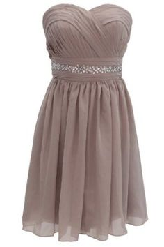 Dressystar Short Knee-length Gray Bridesmaid Dresses