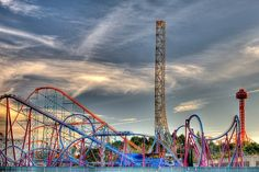Six Flags Magic Mountain is a 262-acre theme park located in California, north of Los Angeles