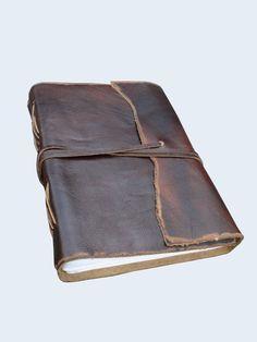 Gorgeous!!! Antique Dark Brown Leather Journal Diary (Handmade) Coptic Bound