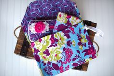 For Sale: Diaper Clutch with Travel Changing Pad and Matching Wipes Case