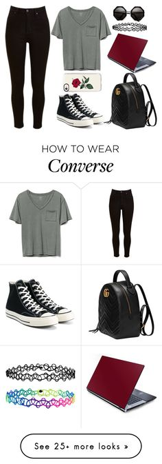 """Might Be Sick"" by lucy-wolf on Polyvore featuring Gap, Lee, Converse, Gucci, Casetify and Accessorize"