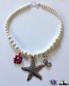 Collar con perlas y estrella de mar www.virudavvero.com