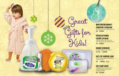 Great gifts for kids!    Healthy skin care for your kids!
