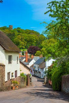 Dunster town - Somerset - England