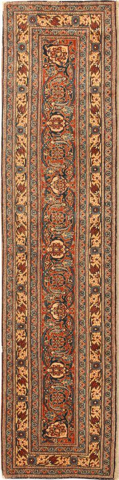 Antique Persian Tabriz Rug.