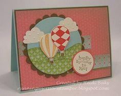 Hot air balloon card.