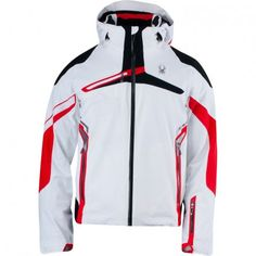 Spyder Alps Insulated Ski Jacket (Men's) - White/Volcano/Black