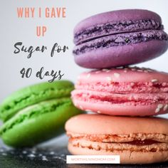 Is sugar your go-to when you are stressed, tired, or bored? Here's my story of turning from sugar to my Savior for true joy and peace. Desserts For A Crowd, Easy Desserts, Dessert Recipes, I M Giving Up, I Give Up, Desserts With Few Ingredients, Little Bites, La Red, Dessert Table