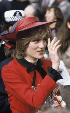 Princess Diana meets the public during a walkabout on October 27, 1981 in Rhyl, Wales