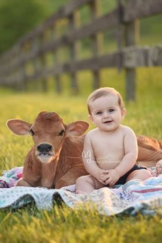 A Virginia mother includes two baby cows in a photo shoot with her children. Animals For Kids, Farm Animals, Animals And Pets, Cute Animals, Wild Animals, Baby Pictures, Animal Pictures, Cute Pictures, Cute Kids Pics