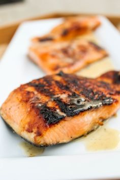 Honey Salmon with Browned Butter Lime Sauce by thefoodcharlatan #Salmon #Honey #Brown_Butter #Lime