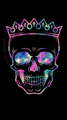 Sweet skull prince galaxy wallpaper I created for the app CocoPPa!