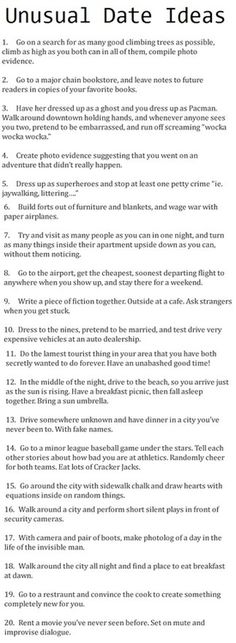 unusual date ideas. 1 petty crime...haha