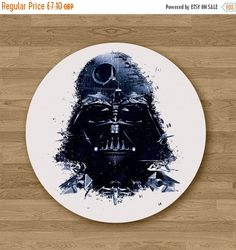 Darth Vader Mousepad Mouse Pad Office Desk Accessories Gift Sister Women Gift for Her Womens Mouse Pad Round Mouse Pad Cute Mouse Pad