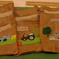 pytlík pro kluky do školky Burlap, Reusable Tote Bags, Hessian Fabric, Jute, Canvas