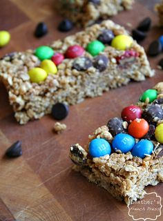 {no bake} Monster Cookie Granola Bars - Heather's French Press