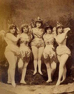 vintage photograph The chorus of fairies in the burlesque  Ariel, Gaiety Theatre, London, 8 October 1883