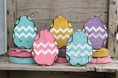 Easter Decor, Easter eggs, Shabby Chic Seasonal Decor, Primitive Easter, Rustic Easter, Country Easter Decor, (SET OF 5)