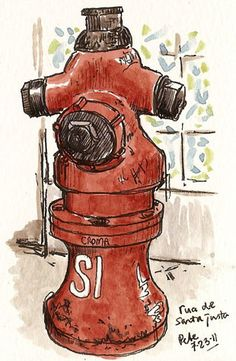 urban sketchers | ... some other urban sketchers. And then there are the fire hydrants